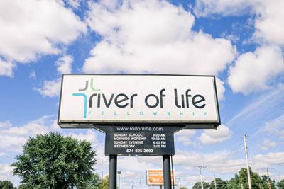 River of Life Fellowship Sign
